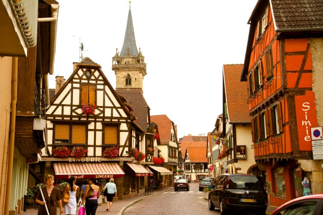 Obernai in the Alsace region, known for producing great white wines.It is recommended that you book a wine tour as cellar doors are not always open to the public. Alternatively, many wine makers have shops in the local town where they sell their produce.