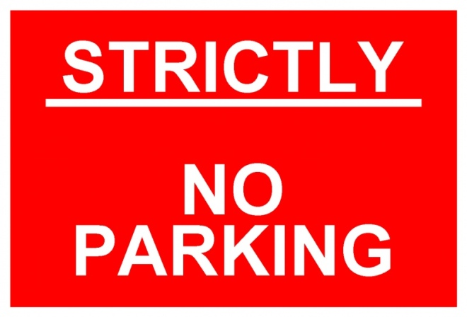 STRICTLY-NO-PARKING